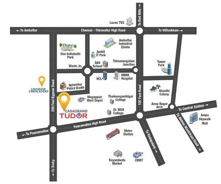 casagrand tudor project location image1