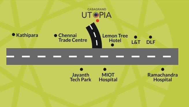 casagrand utopia project location image1