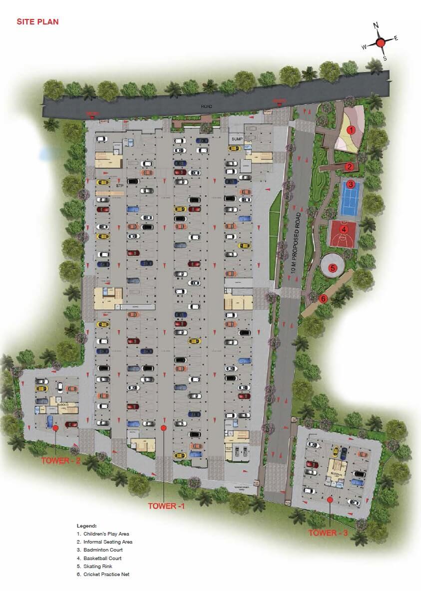 casagrand woodside master plan image1