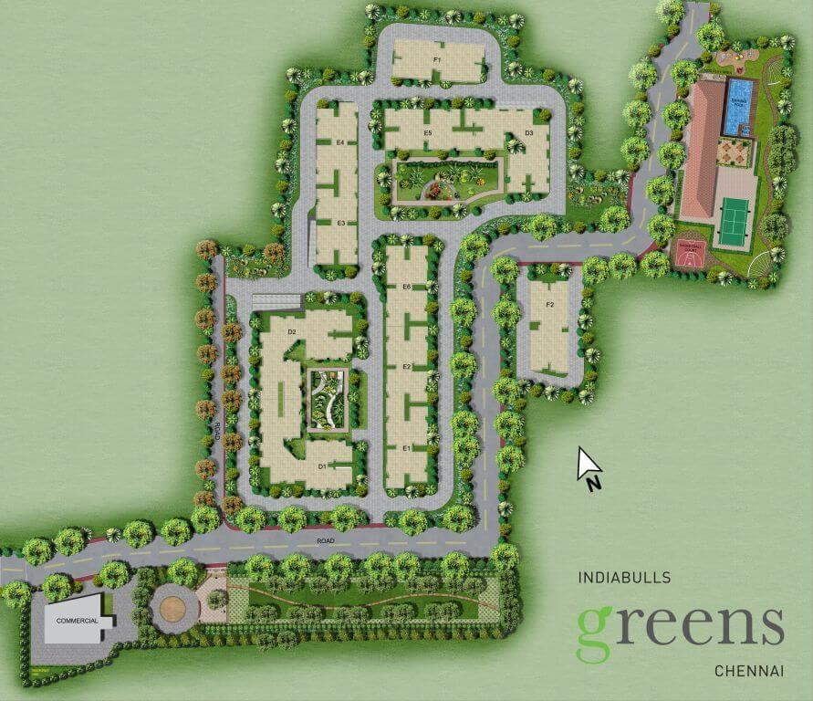 indiabulls greens chennai master plan image1
