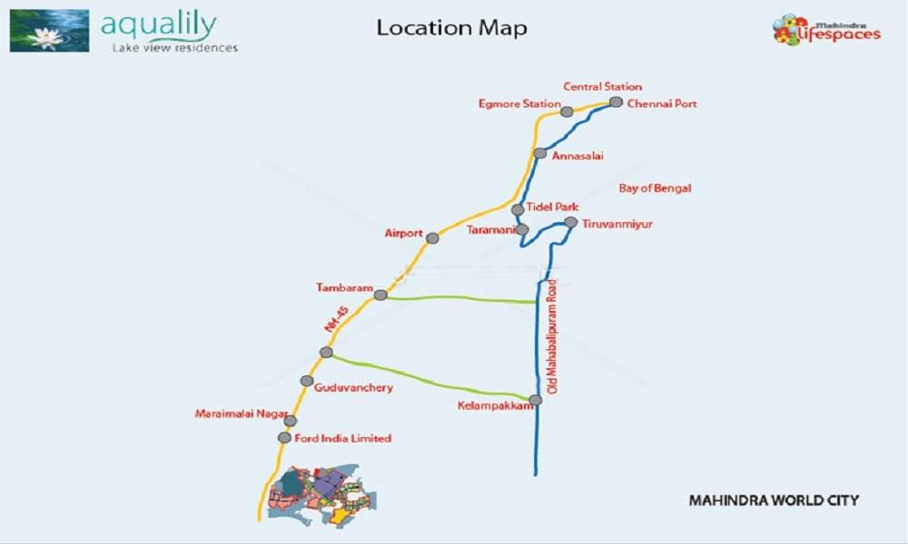mahindra lifespaces aqualily villa project location image1