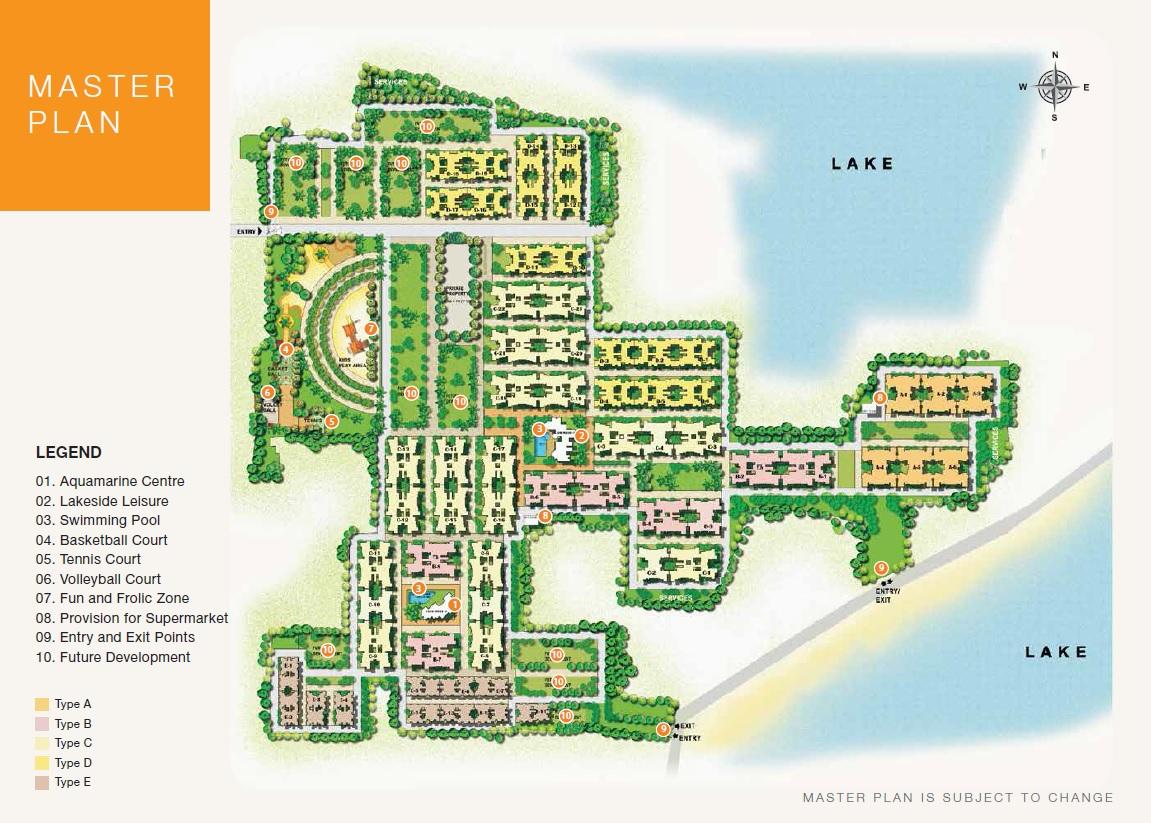 puravankara windermere master plan image1