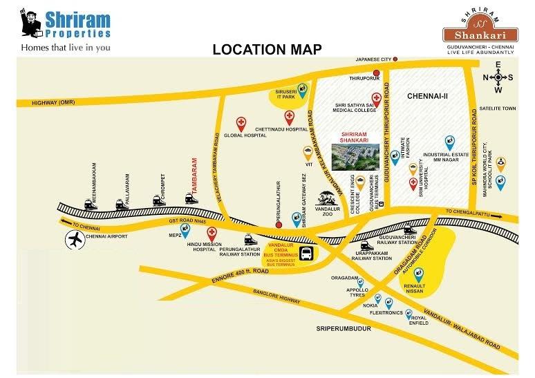 shriram properties shankari project location image1