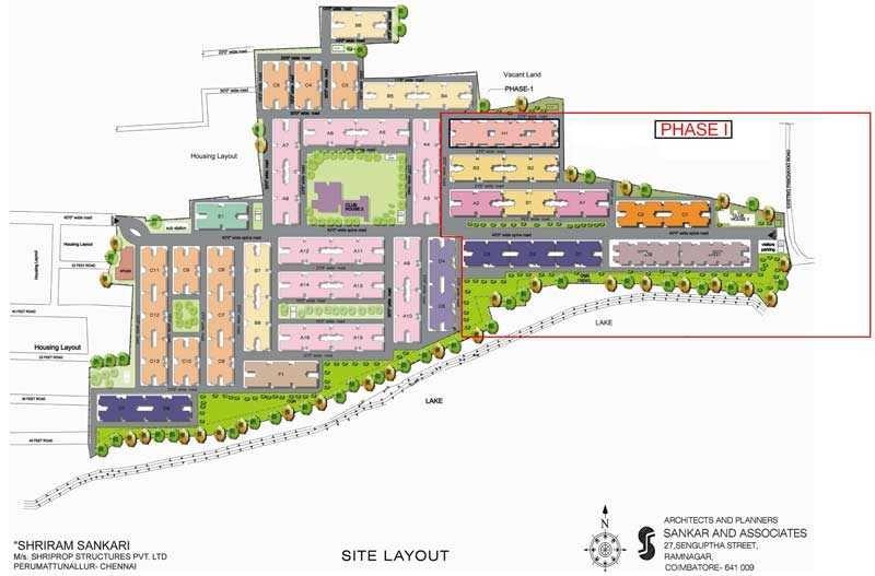 shriram properties shankari project master plan image1