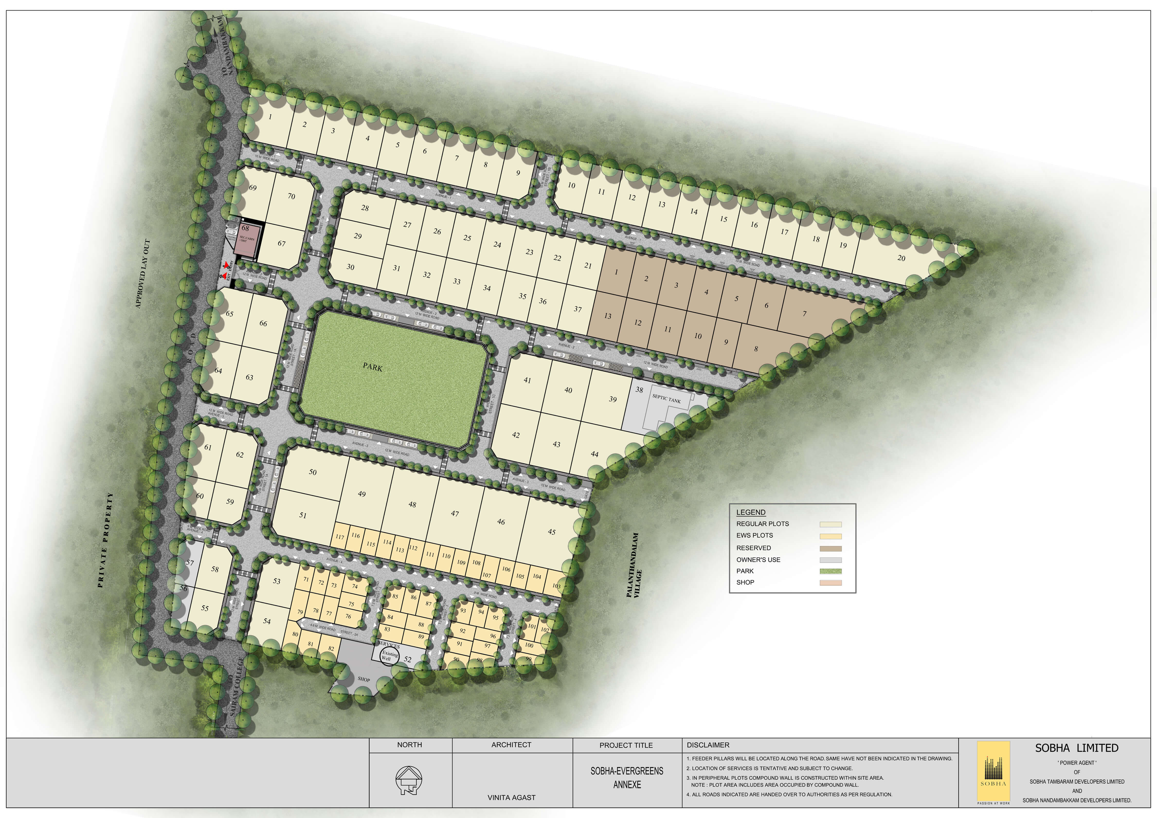 sobha evergreens master plan image1