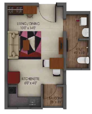 alliance urbanrise codename million carats studio 208sqft 1