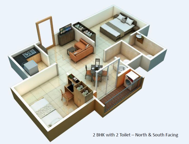 alliance urbanrise jubilee residences apartment 2bhk 717sqft 1