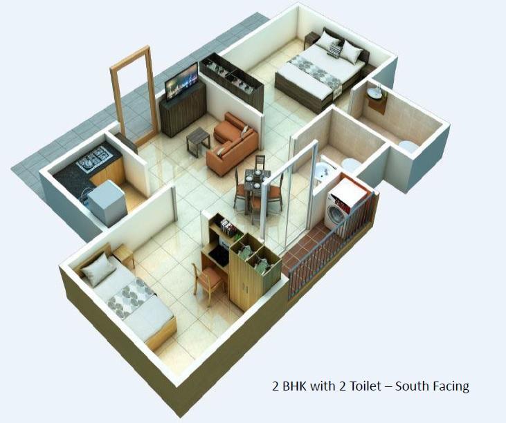 alliance urbanrise jubilee residences apartment 2bhk 817sqft 1