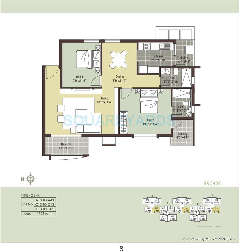 arihant housing escapade apartment 2bhk 1132sqft1