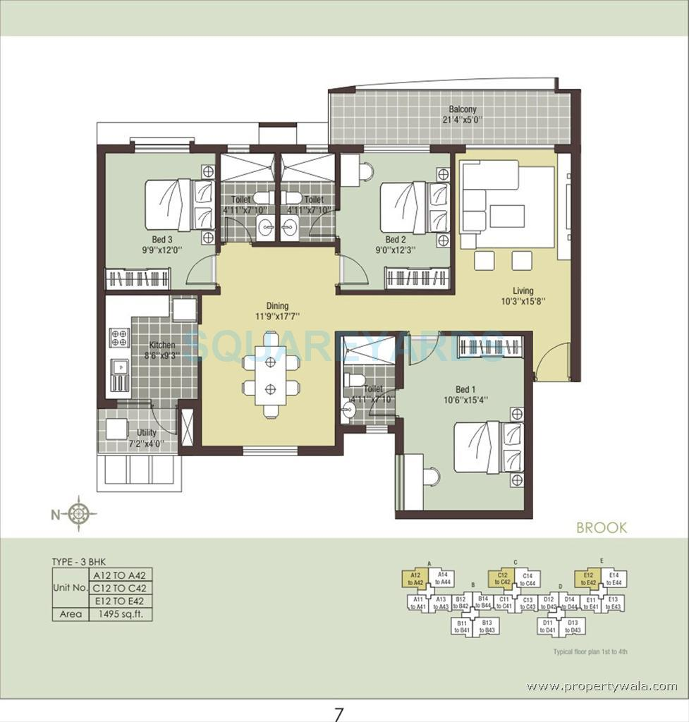 arihant housing escapade apartment 3bhk 1495sqft1