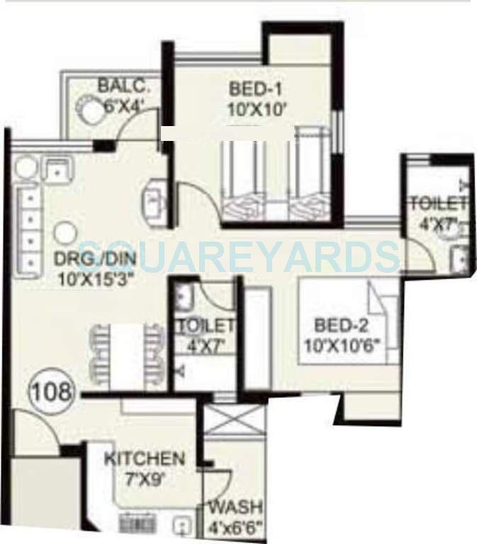 arihant housing frangipani apartment 2bhk 800sqft1