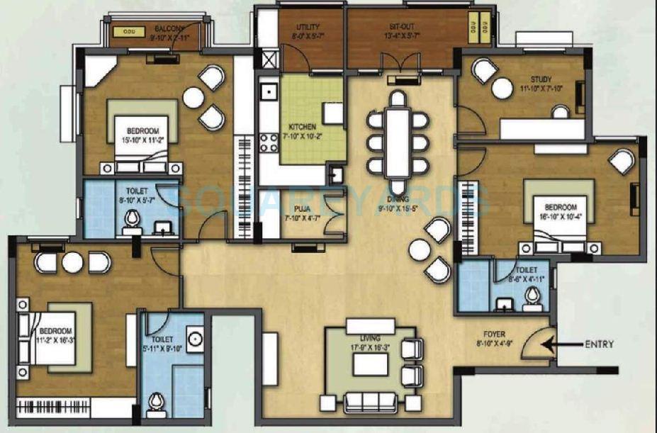 arihant housing tiara apartment 3bhk 2090sqft1