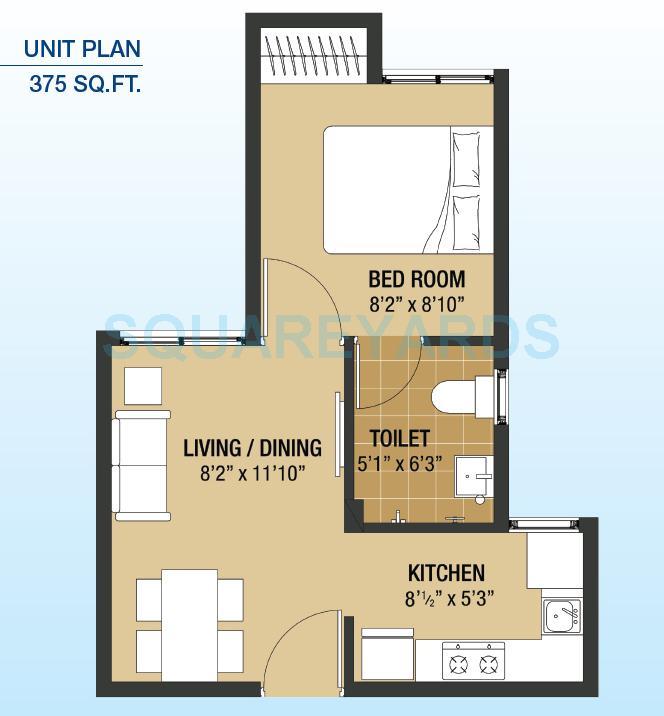 arun excello compact homes vasanthaa apartment 1bhk 375sqft1
