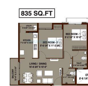 arun excello four green apartment 2bhk 835sqft1