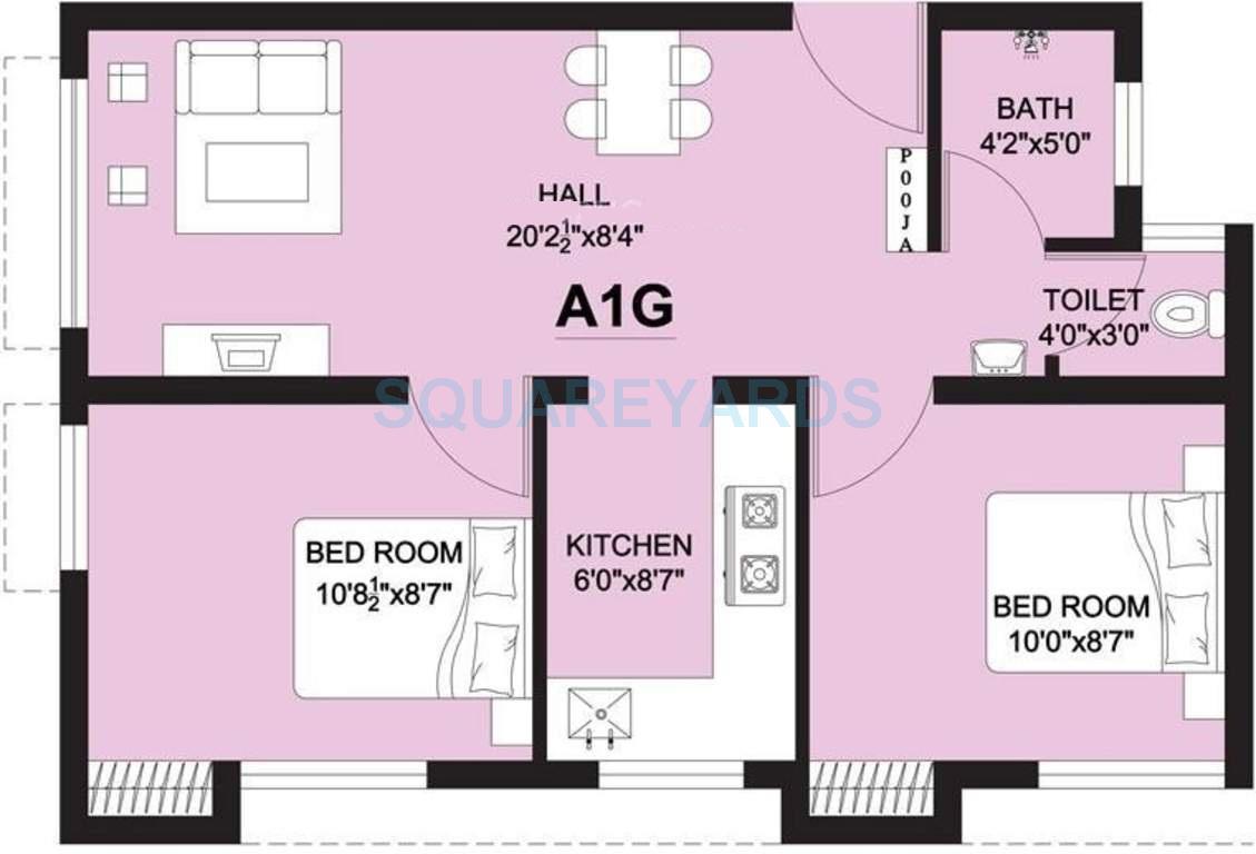 arun excello lathangi apartment 2bhk 545sqft1