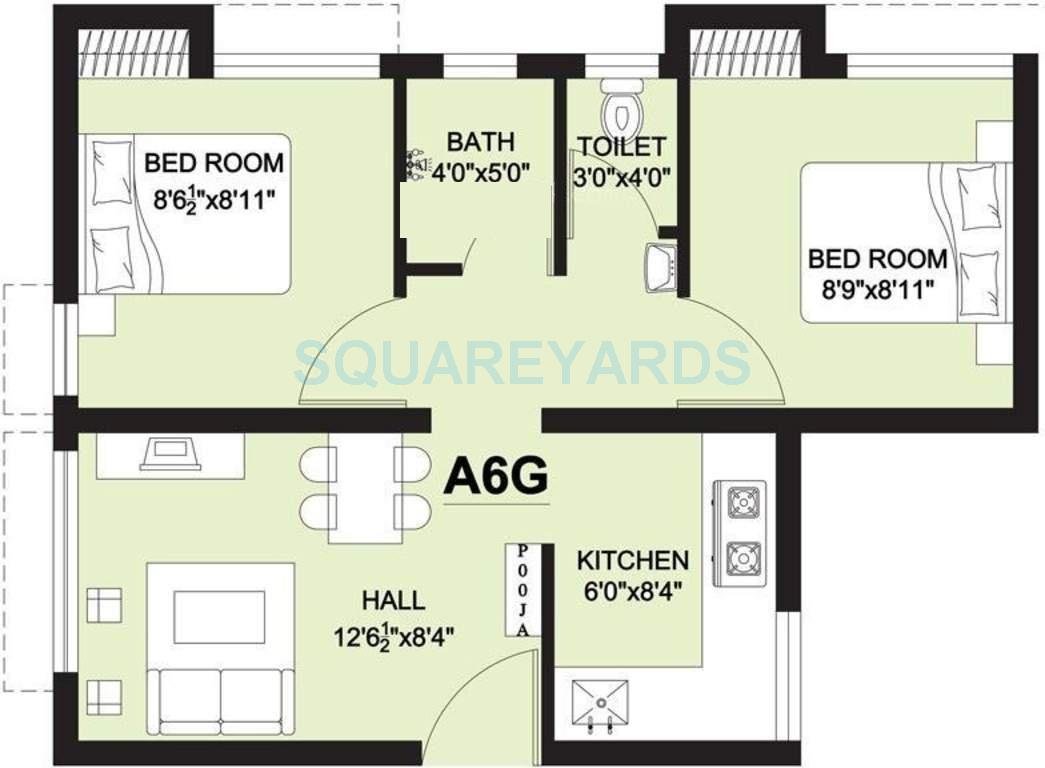arun excello lathangi apartment 2bhk 585sqft1