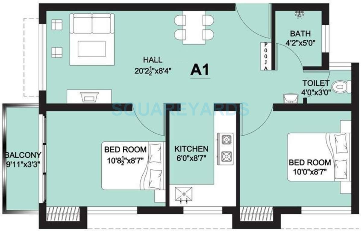 arun excello lathangi apartment 2bhk 630sqft1