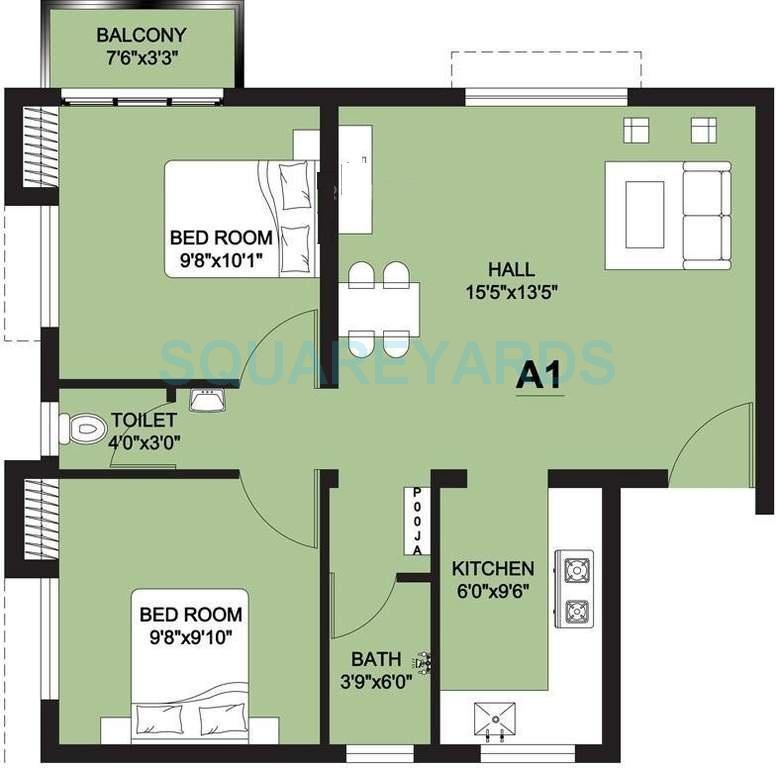 arun excello lathangi apartment 2bhk 755sqft1