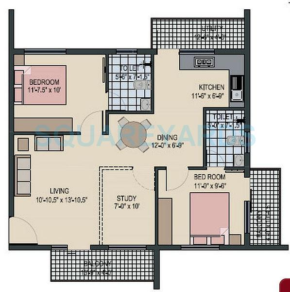 avigna properties celeste villa 2bhk 1245sqft1