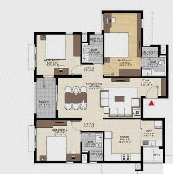 bonito at brigade xanadu apartment 3 bhk 1096sqft 20203221113248