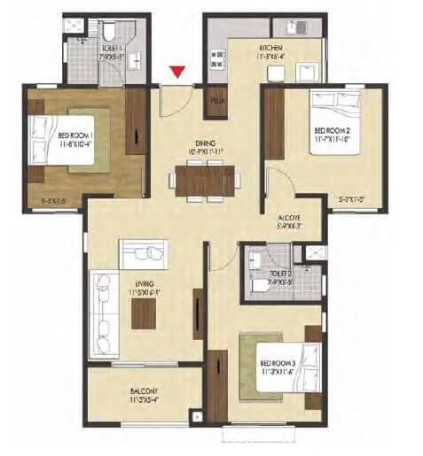 brigade xanadu apartment 2bhk 1410sqft 1