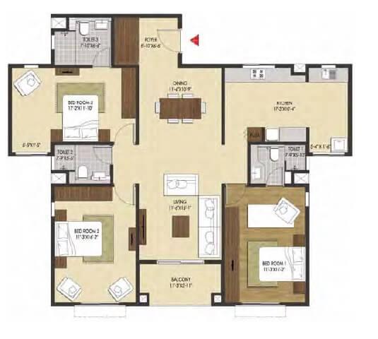 brigade xanadu apartment 3bhk 1889sqft 1