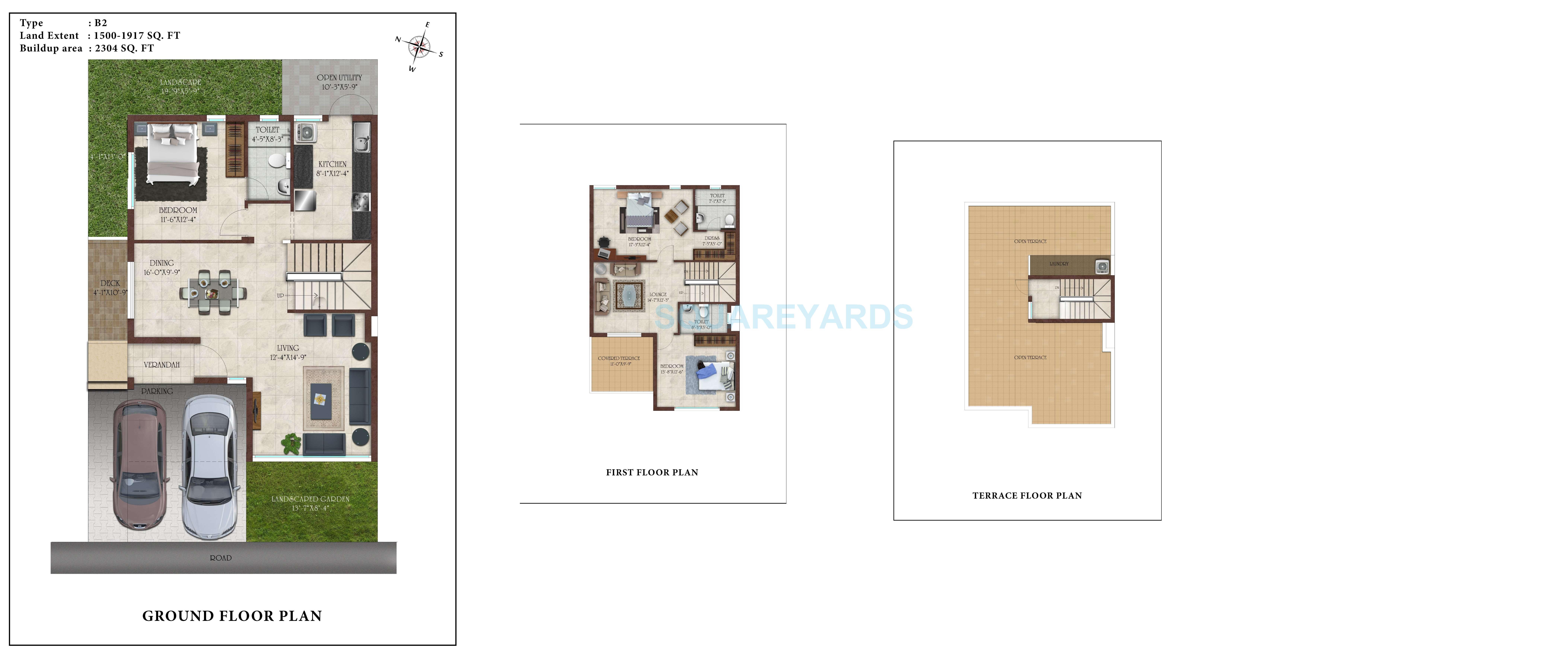 casa grande elan villa 3bhk 2304sqft 1