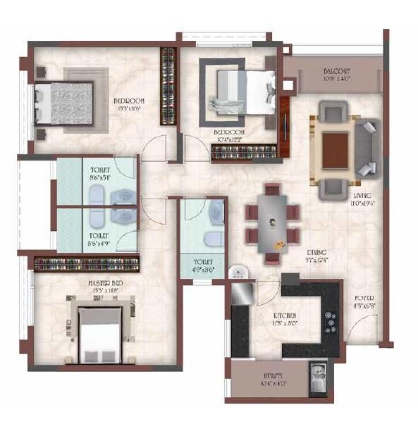 casagrand masseys apartment 3bhk 1580sqft31
