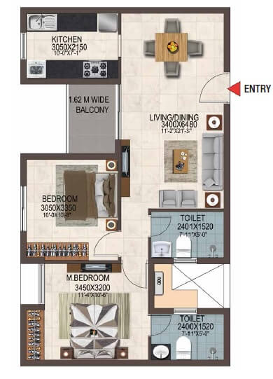 casagrand savoye apartment 2bhk 1024sqft 1