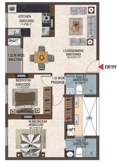 casagrand savoye apartment 2bhk 1218sqft 1