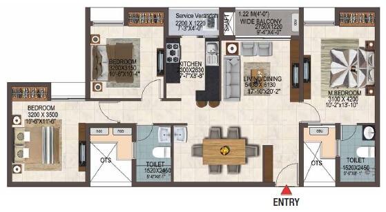 casagrand savoye apartment 3bhk 1428sqft 1
