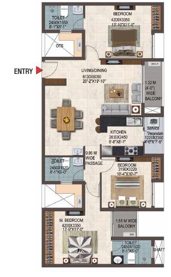 casagrand savoye apartment 3bhk 1626sqft 1