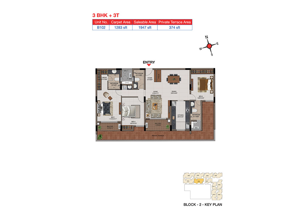 casagrand tudor apartment 3 bhk 1947sqft 20204320124343