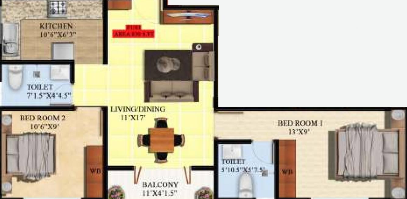 dcc aglaia apartment 2 bhk 852sqft 20201623071618