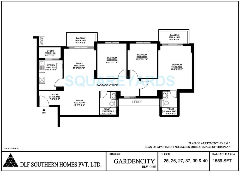 dlf gardencity apartment 3bhk 1559sqft1