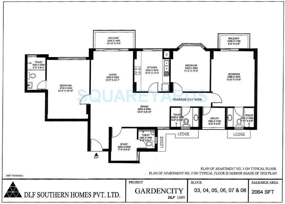 dlf gardencity apartment 3bhk 2064sqft1