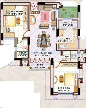 doshi sri mahalakshmi utsav apartment 2bhk 960sqft1