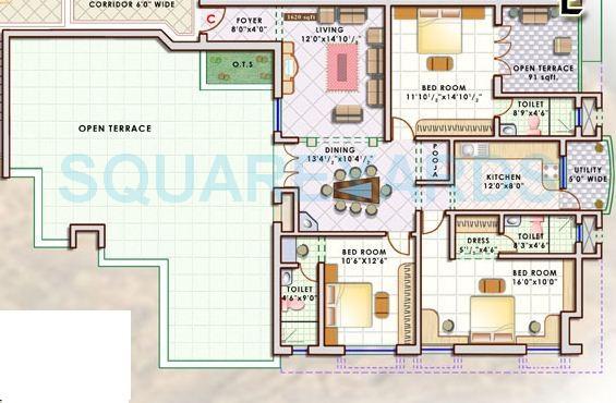 doshi sri mahalakshmi utsav apartment 3bhk 1620sqft1