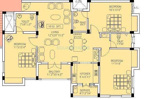 doshi trinity park apartment 2bhk 1030sqft1