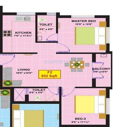 eesha constructions sri ranga padhuka apartment 2bhk 852sqft1