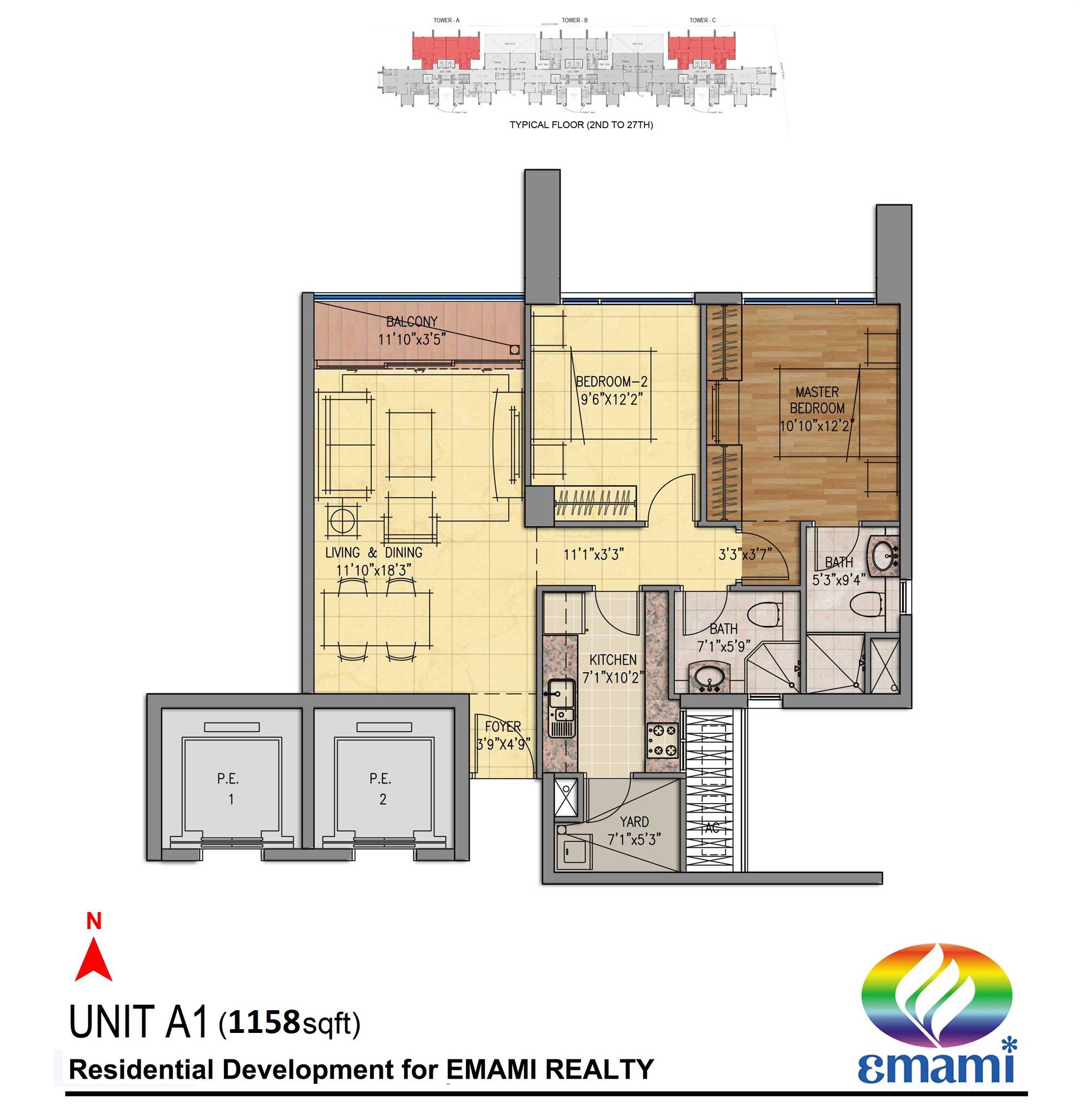 emami tejomaya apartment 2bhk 1158sqft 1