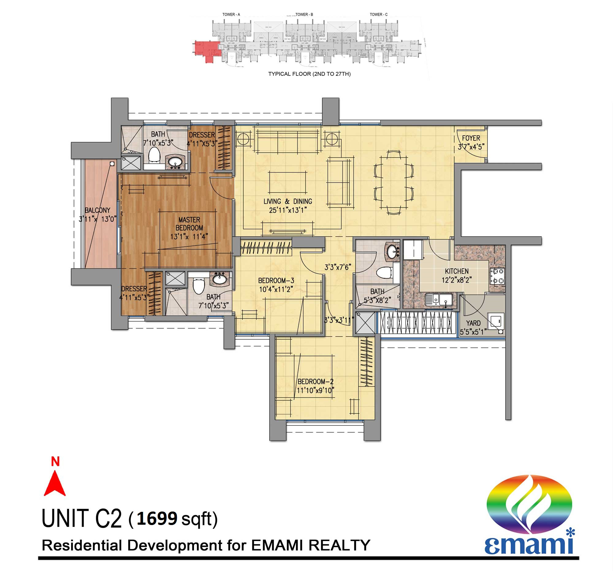 emami tejomaya apartment 3bhk 1699sqft 1