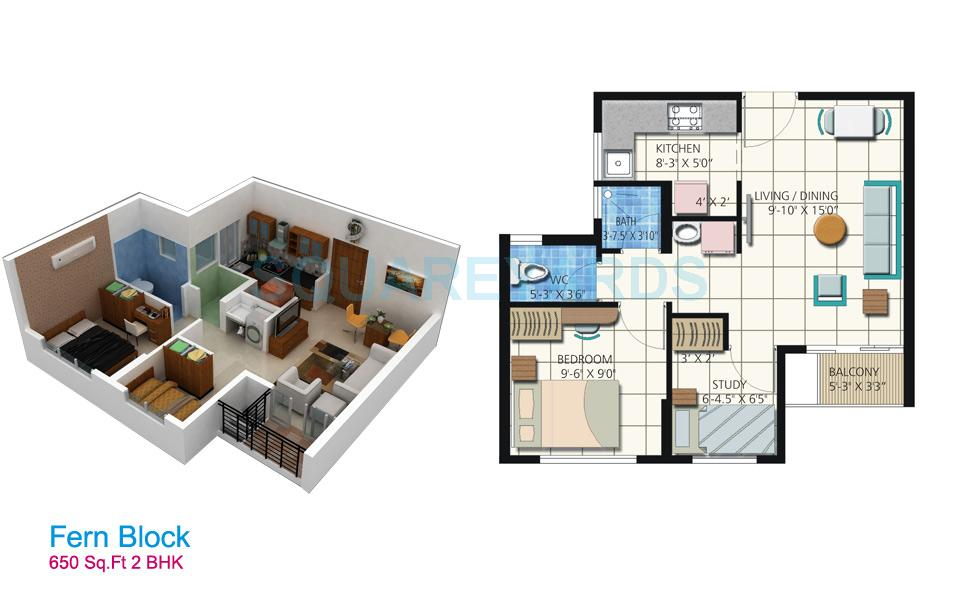 650 square feet apartment floor plan for Home design 650 square feet