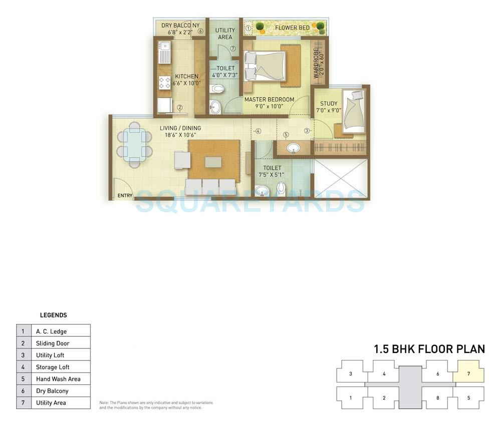 indiabulls greens apartment 1bhk 896sqft1