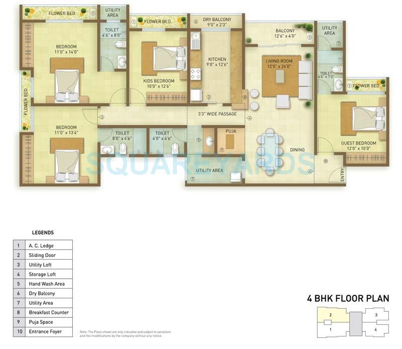 indiabulls greens apartment 4bhk 2571sqft1
