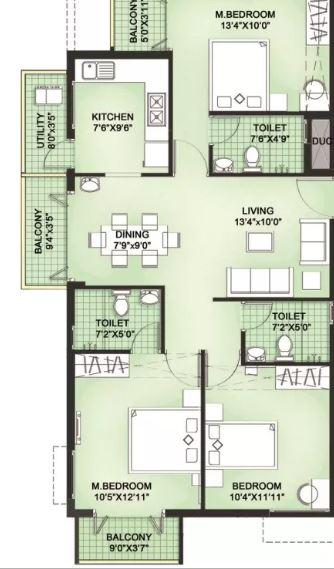 lml prakriti apartment 3bhk 1320sqft31