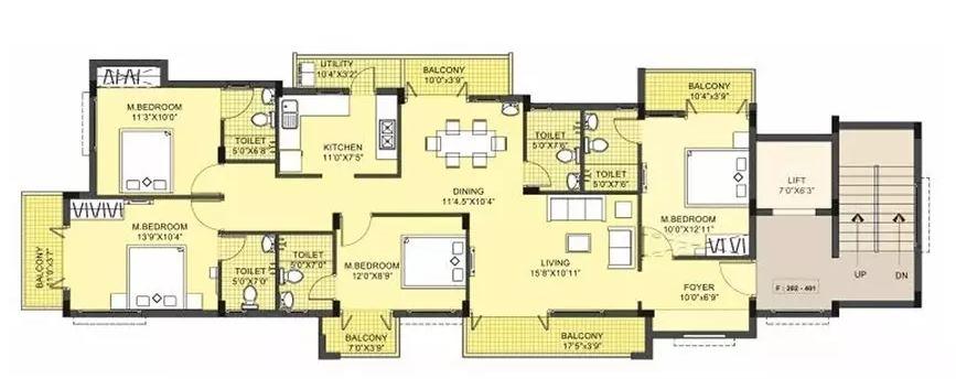 lml prakriti apartment 4bhk 2019sqft51
