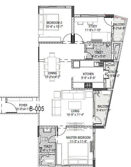 mantri group serene apartment 3bhk 1510sqft 1