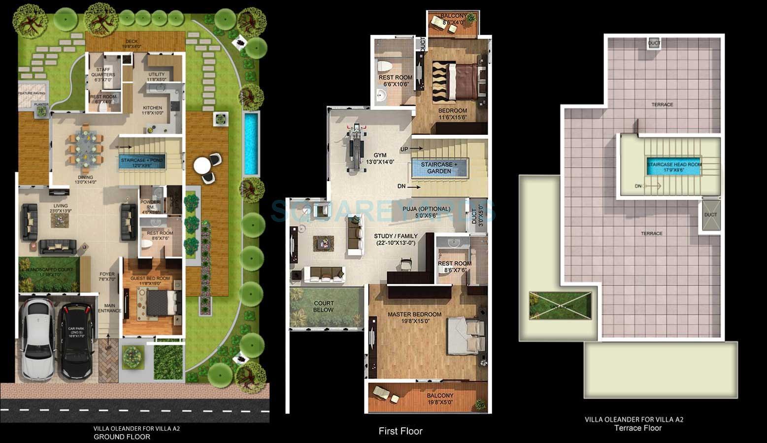 mantri group signature villa villa 3bhk 3715sqft1