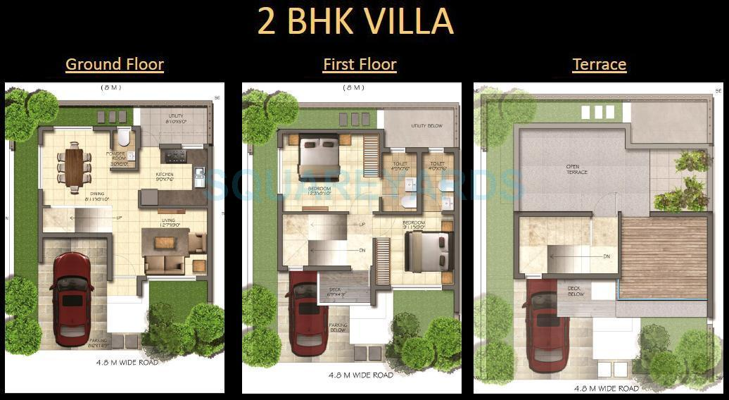 mantri group solitude villa 2bhk 1180sqft 1